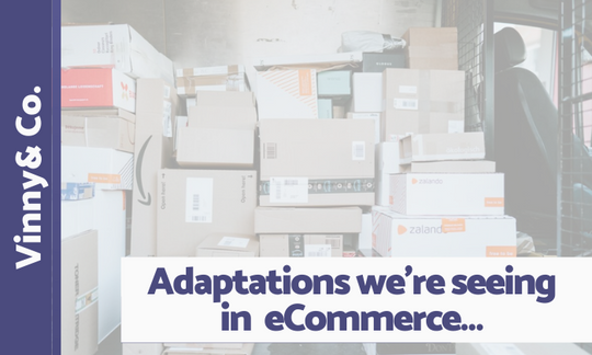 the most interesting or important adaptations we're seeing in ecommerce…