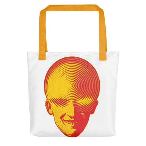 Spiralling Head Tote bag