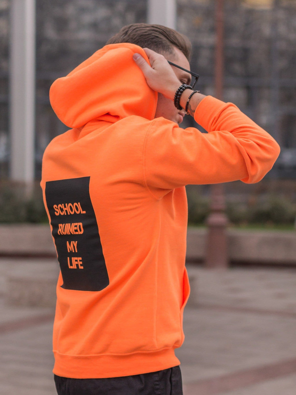 Hanorac School Orange Neon
