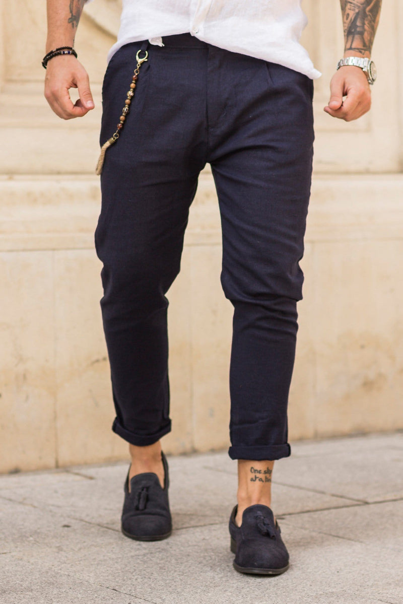 Pantaloni de in 3 sferturi CHAIN Blue