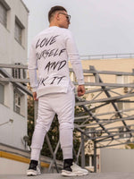 Compleu Love Yoursel ALL WHITE (Tricou Cadou)