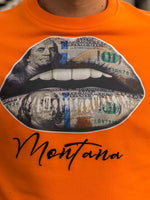 Compleu DOLLAR LIPS Orange (Tricou Cadou)