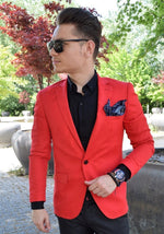 Sacou Slim Fit Red