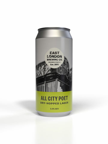 All City Poet Dry-Hopped Lager 440ML Case of 12 Cans