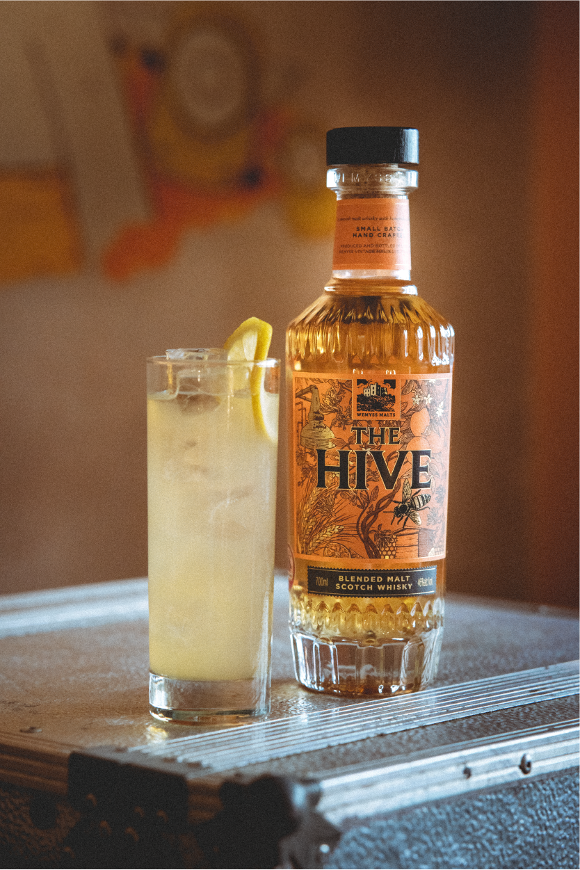 The Hive by Wemyss Malts Hiveball with Bottle