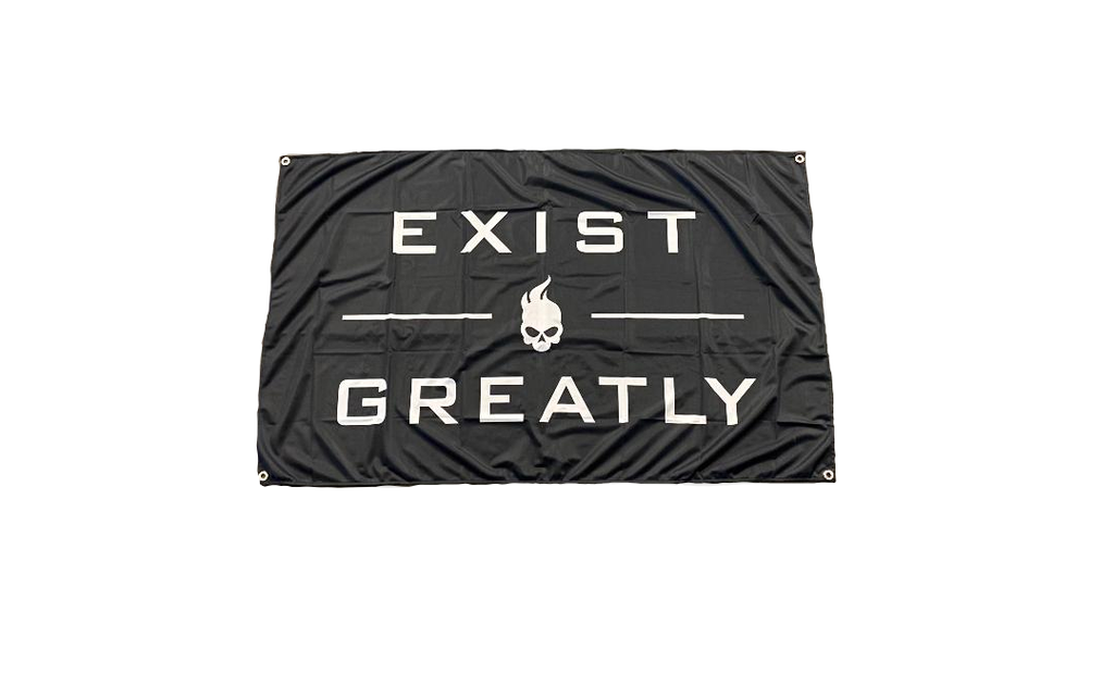 Ghost Exist Greatly Flag