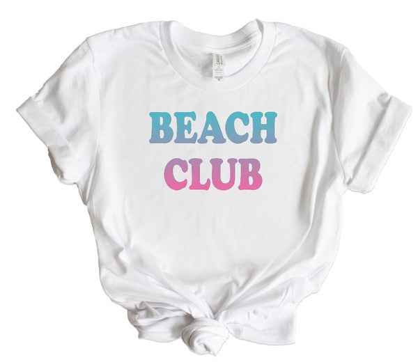 Beach Club Ombre Graphic Tee - Babe Outfitters