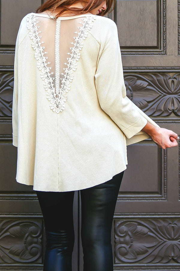 The Arlo Lace Thermal Top - Babe Outfitters