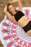 Paisley Pink Roundie Beach Towel - Mint Wish