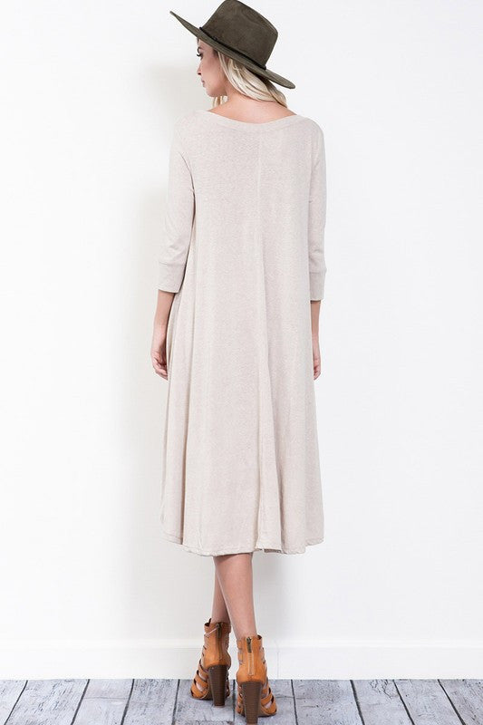 Alivia Hi-Lo Henley Dress