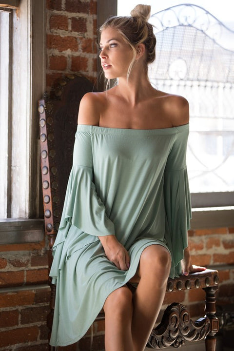 Kendall Dress (Sage) - Mint Wish