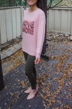 Love More Graphic Lightweight Sweatshirt - Babe Outfitters