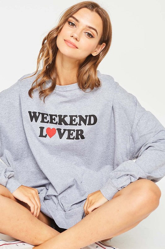 Weekend Lover Graphic Sweatshirt