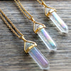 AB Titanium Quartz Necklace - Gold - Mint Wish