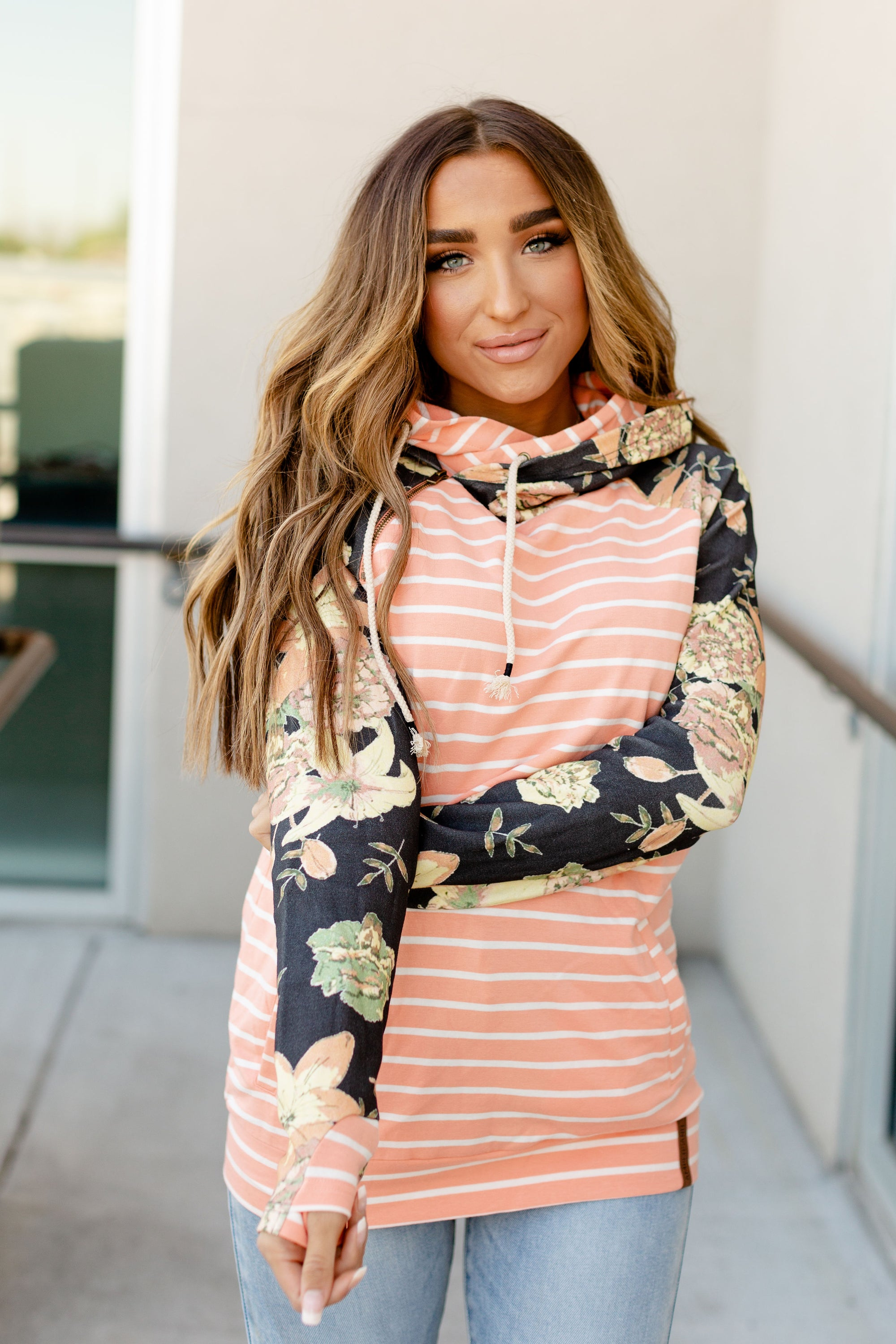 Ampersand Avenue DoubleHood Sweatshirt - Golden Hour