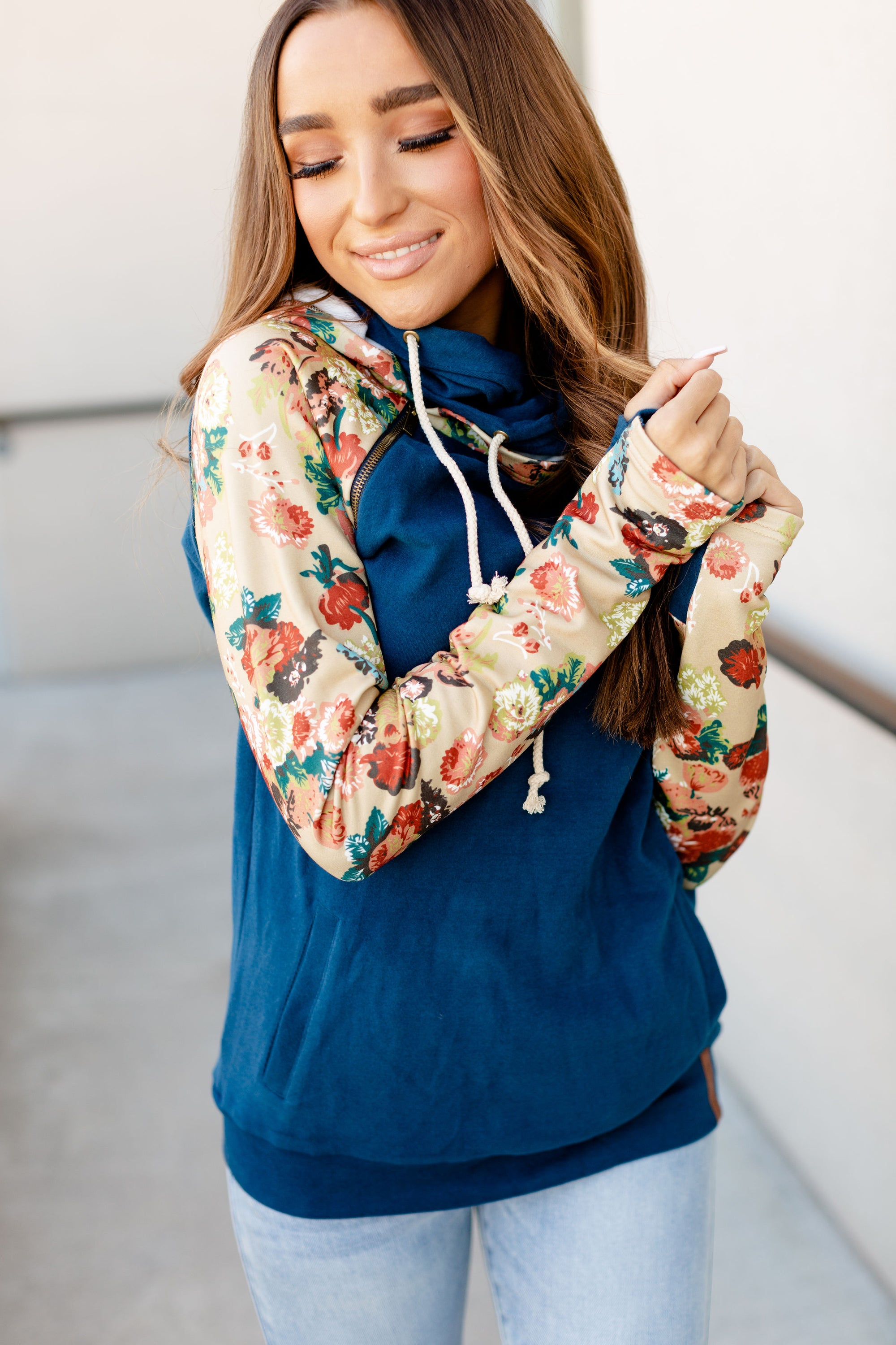 Ampersand Avenue DoubleHood Sweatshirt - Late Bloomer