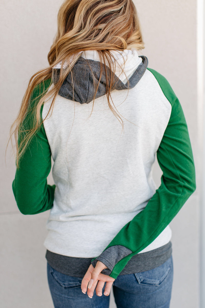 Ampersand Avenue Baseball DoubleHood Sweatshirt - Forest