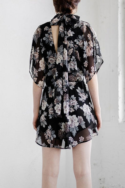 Twilight Gardens Floral Playsuit - Mint Wish