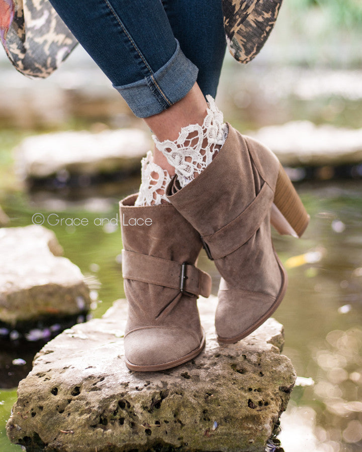 Grace & Lace Lace Topped Bootie Socks™ - Babe Outfitters