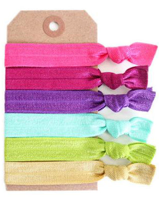 Bohemian Bright Hair Tie Set - Babe Outfitters