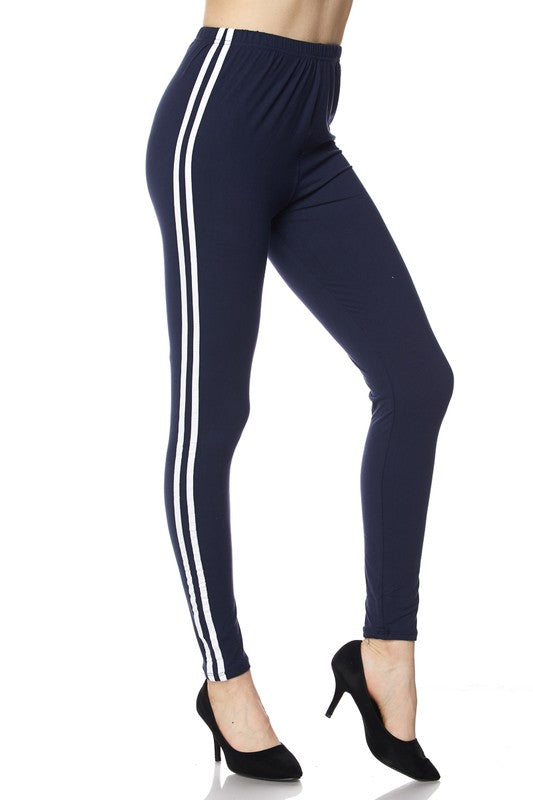 Brushed Varsity Stripe Leggings - Babe Outfitters
