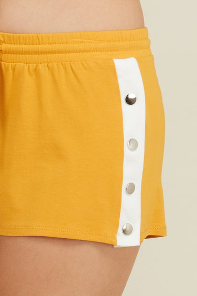 Snap Out Of It Button Shorts - Mint Wish