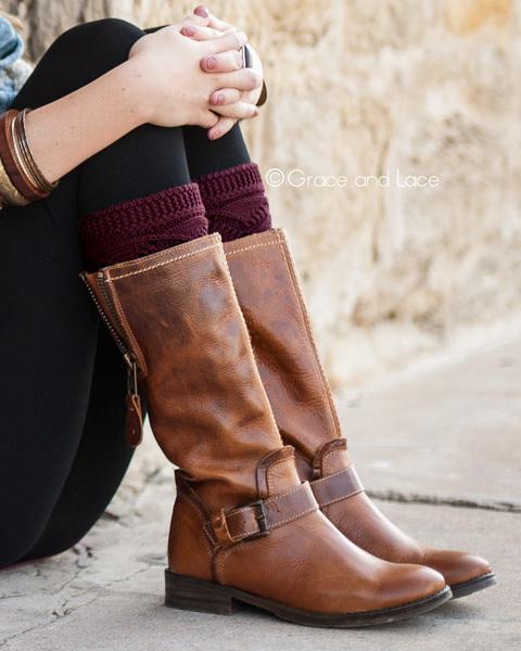Grace & Lace Cable Knit Boot Cuff - Babe Outfitters