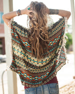 Grace & Lace Tassel Trim Tunic in Fall Aztec - Babe Outfitters