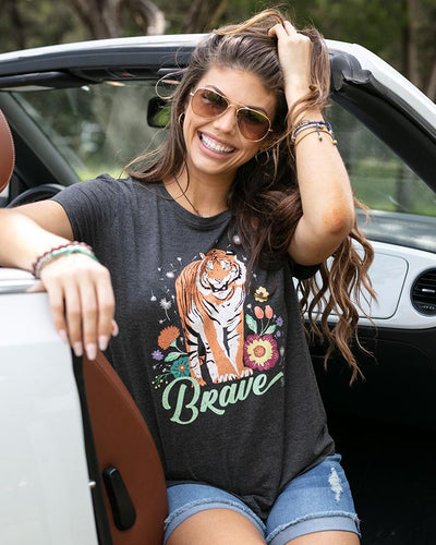 Grace & Lace Perfect Crew Neck (Tiger Design)