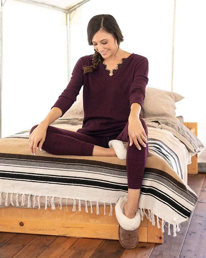 Grace & Lace Snow Day Sweater (Wine)