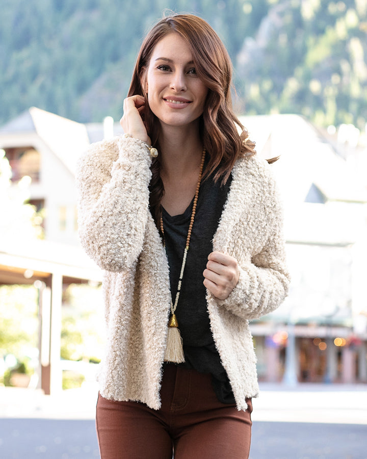Grace & Lace Colorado Cozy Cardigan (Toasted Marshmallow)