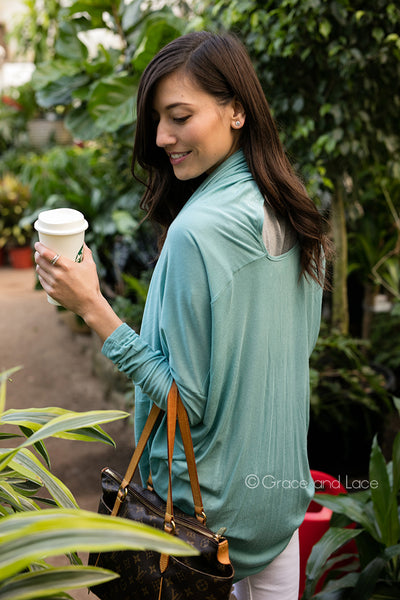 Grace & Lace Grab 'n Go Multi-Wear Knit - Mint Wish