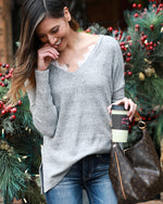 Grace & Lace Snow Day Sweater - Babe Outfitters