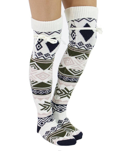 Grace & Lace Alpine Thigh High Boot Socks - Babe Outfitters