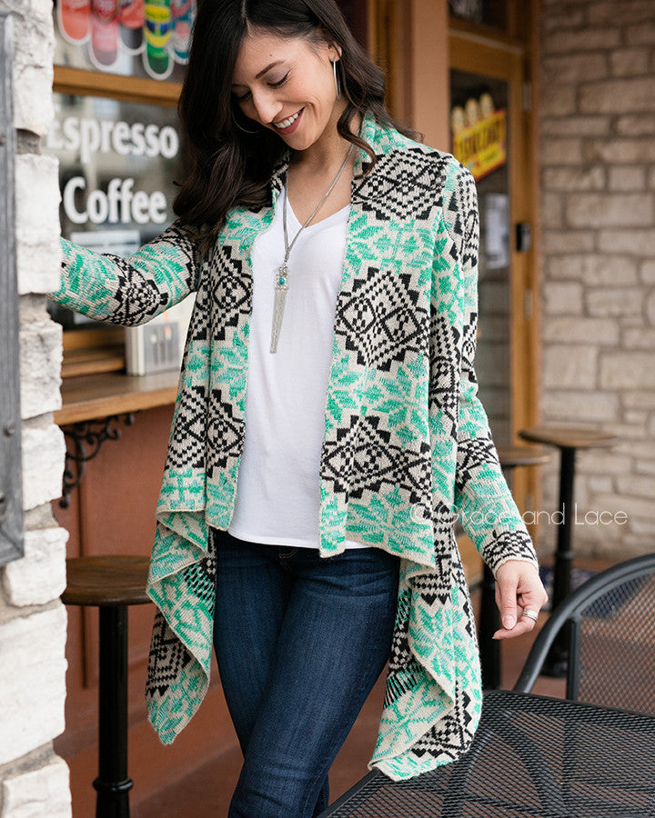 Grace & Lace Aspen Cardigan (Wintermint)
