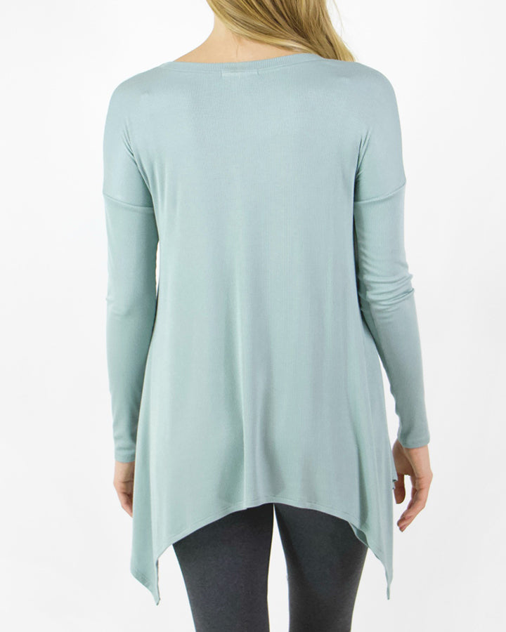 Grace & Lace Everyday Favorite Ribbed Tee - Babe Outfitters