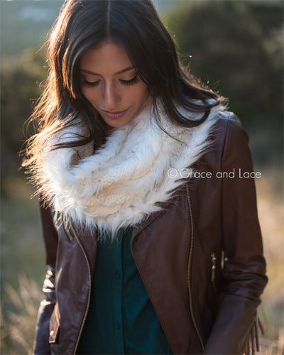 Grace & Lace Faux Fur Scarf - Babe Outfitters