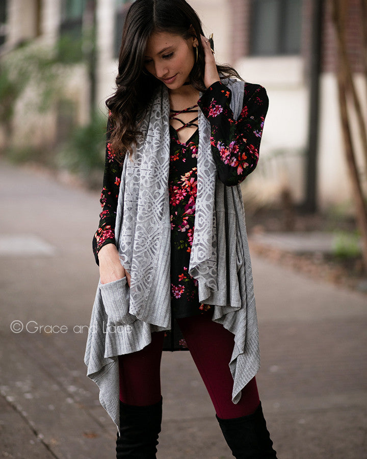 Grace & Lace: Lace Flip Cardi - Babe Outfitters