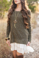 Grace & Lace Honeycomb Knit Sweater - Babe Outfitters