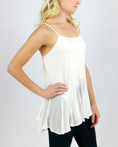 Grace & Lace Flutter Hem Top Extender (Ivory) - Mint Wish