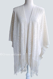 Grace & Lace Fringe Kimoncho - Babe Outfitters