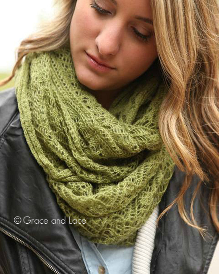 Grace & Lace Lace Knit Scarf (Olive) - Babe Outfitters