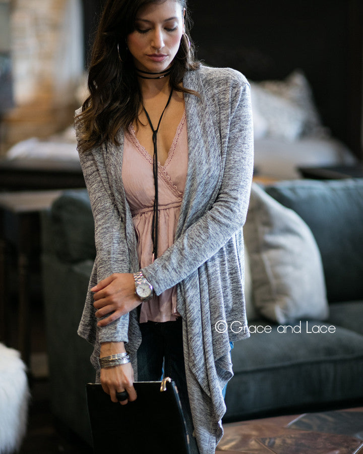 Grace & Lace Lounge Cardi - Babe Outfitters