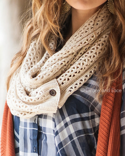 Grace & Lace Nellie Knit Scarve (Oat) - Babe Outfitters