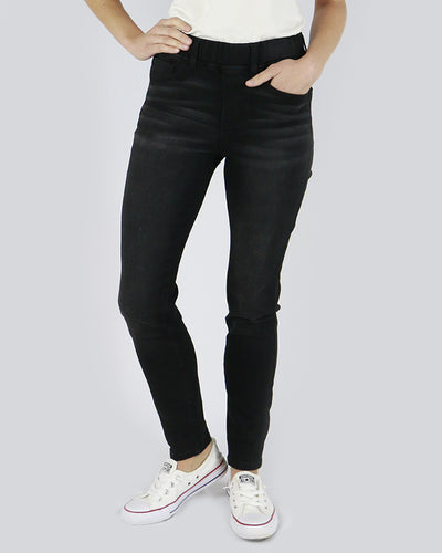 Grace & Lace classic Mid Rise Pull-On Jeggings (Black) - Mint Wish