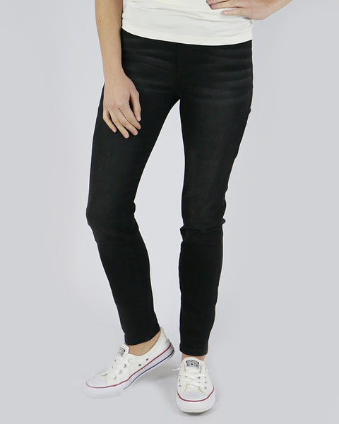 Grace & Lace Classic Mid Rise Pull-On Jeggings (Black) - Babe Outfitters