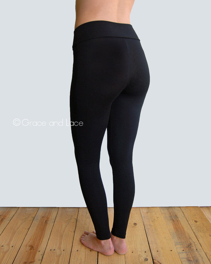 Grace & Lace Perfect Fit Leggings in Black - Babe Outfitters