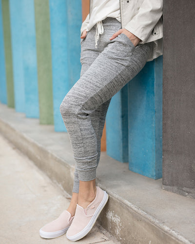 Grace & Lace Snow Day Joggers (Space Dyed Grey) - Mint Wish