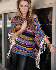 Grace & Lace Tassel Trim Tunic™ in Multicolor - Babe Outfitters