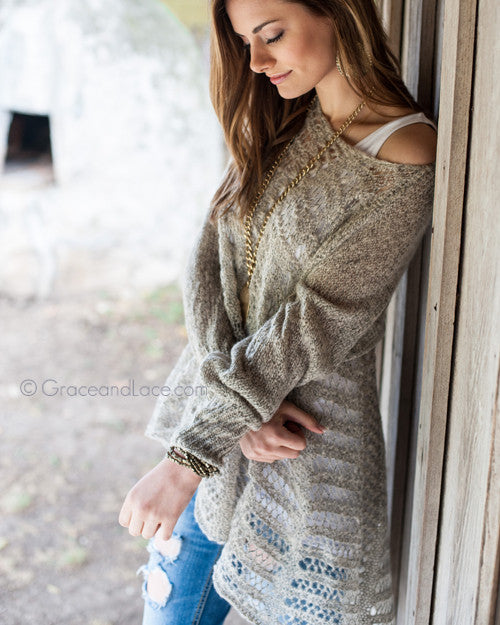 Grace & Lace Cold Weather Two Fit Knit Cardigan™ (Oat) - Babe Outfitters
